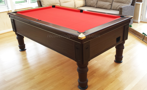 Prince Pool table in Red Smart cloth 1