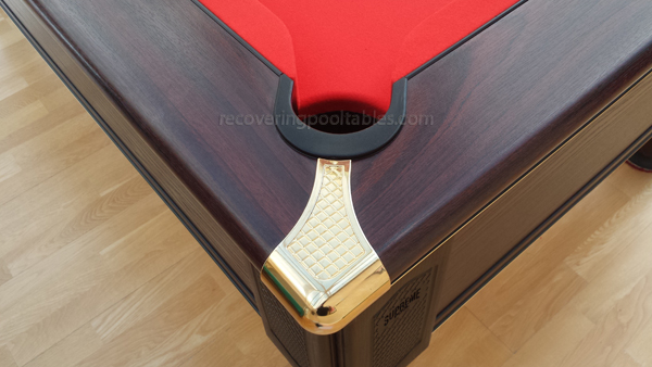 Prince Pool table in Red Smart cloth 2