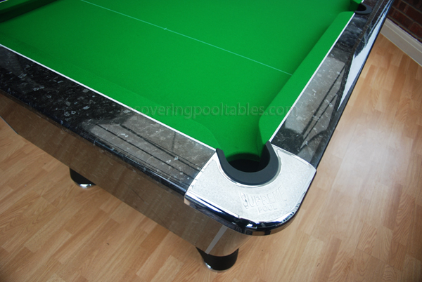 Black Marble Winner pool table with Green Smart cloth 2